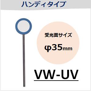 View-IT UVディテクター VW-UV ハンディタイプ (受光面サイズ:φ35mm)