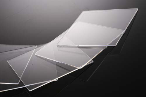 薄型合成石英基板 Labo-CG  18×18×0.17t(mm) 100枚