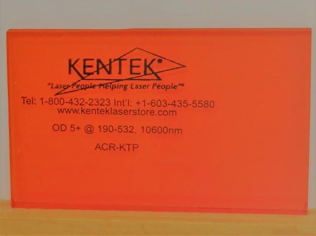 レーザー保護ウィンドウ  ACR-KTPB     オレンジ 55%VLT YAG二倍波