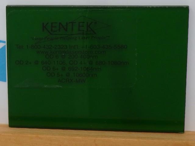 レーザー保護ウィンドウ  ACRX-MWB    グリーン 25%VLT ルビーレーザー