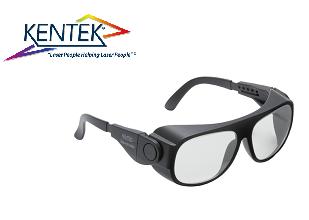 レーザー保護メガネ KBS-018C ユニバーサルフィット (近赤外) ライトグレー 可視光透過率 75%