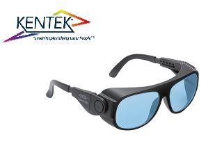 レーザー保護メガネ KBS-20C ユニバーサルフィット (近赤外/調整用) ライトブルー 可視光透過率 50%