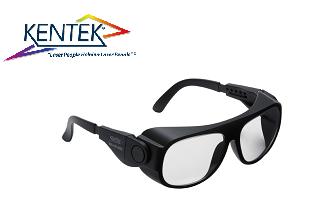 レーザー保護メガネ KBS-5901 ユニバーサルフィット (エルビウムレーザー) クリア  可視光透過率 85%