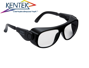 レーザー保護メガネ KBS-6001 ユニバーサルフィット (UV/CO₂レーザー特化タイプ) 透明  可視光透過率 90%
