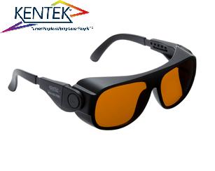 レーザー保護メガネ KBS-6401 ユニバーサルフィット (スーパーマルチ) ダークオレンジ  可視光透過率 19%