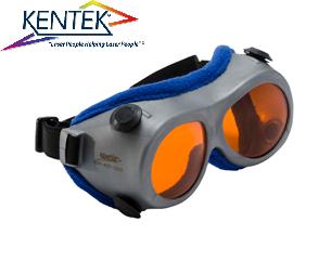 レーザー保護メガネ KGG-5301 ゴーグル (532nm KTP YAG 二倍波用) オレンジ 可視光透過率 50%