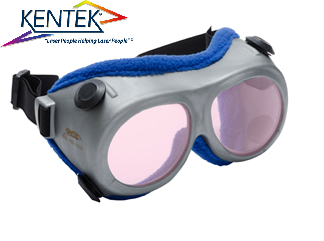 レーザー保護メガネ KGG-5801 ゴーグル (800-810nm 半導体レーザー用) ピンク  可視光透過率 45%
