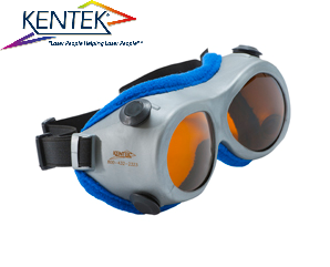 レーザー保護メガネ KGG-6401 ゴーグル (スーパーマルチ) ダークオレンジ  可視光透過率 19%