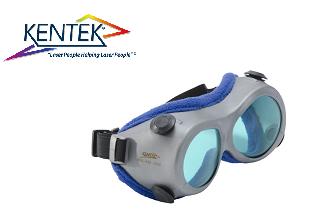 レーザー保護メガネ KGG-6701 ゴーグル (CO2レーザー HeNe調整) ブルー 可視光透過率 41%