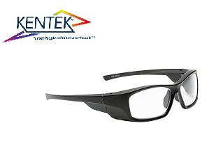 レーザー保護メガネ KMZ-5901 スタイリッシュ (エルビウムレーザー) クリア  可視光透過率 85%