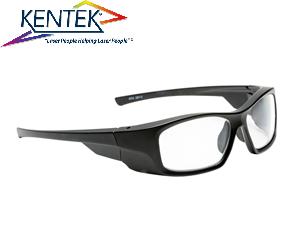 レーザー保護メガネ KMZ-6001 スタイリッシュ(UV/CO₂レーザー特化タイプ) 透明  可視光透過率 90%
