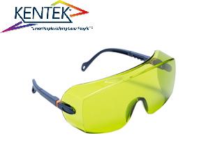 レーザー保護メガネ KWL-5151U オーバーグラス (1064nm YAG基本波用) ライトグリーン 可視光透過率43%