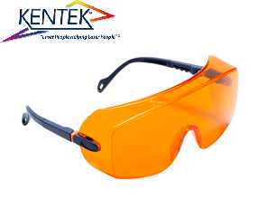 レーザー保護メガネ KWL-5301U オーバーグラス (532nm KTP YAG 二倍波用) オレンジ 可視光透過率 50%