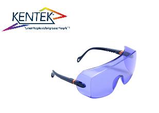 レーザー保護メガネ KWL-8801U オーバーグラス (色素レーザー) ライトブルー 可視光透過率 29%