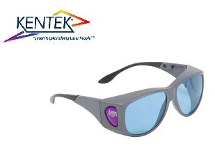レーザー保護メガネ KXL-20C オーバーフィット (近赤外/調整用) ライトブルー 可視光透過率 50%