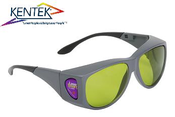 レーザー保護メガネ KXL-5151 オーバーフィット (1064nm YAG基本波用) ライトグリーン 可視光透過率43%