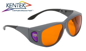 レーザー保護メガネ KXL-5301 オーバーフィット (532nm KTP YAG 二倍波用) オレンジ 可視光透過率 50%