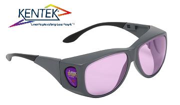 レーザー保護メガネ KXL-5801 オーバーフィット (800-810nm 半導体レーザー用) ピンク  可視光透過率 45%