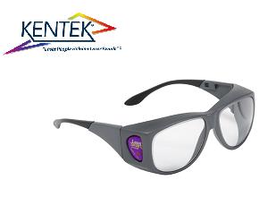 レーザー保護メガネ KXL-5901 オーバーフィット (エルビウムレーザー) クリア  可視光透過率 85%