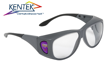 レーザー保護メガネ KXL-5161 オーバーフィット (1064nm YAG基本波用) ライトグレー 可視光透過率60%