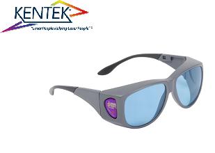 レーザー保護メガネ KXL-6101 オーバーフィット (ルビーレーザー) ライトブルー 可視光透過率 60%