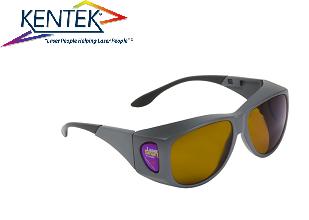 レーザー保護メガネ KXL-62W01 オーバーフィット (近赤外/調整用) ブラウン 可視光透過率 8%
