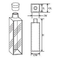 キャップ付蛍光セル(全面透明) T-13-ES-20