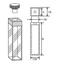 テフロン栓付蛍光セル(全面透明) T-23-ES-20