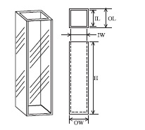 蛍光セル(全面透明) T-3-ES-5