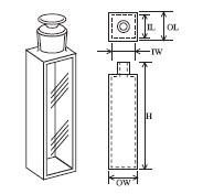 栓付蛍光セル(全面透明) T-33-ES-5