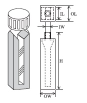 スクリューキャップ付特殊マイクロセル(2面透明) T-46-ES-10 容量0.350ml