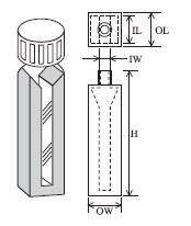 スクリューキャップ付特殊マイクロセル(2面透明) T-46-ES-10 容量1.750ml
