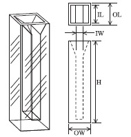 セミマイクロ蛍光セル(全面透明) T-517-ES-10