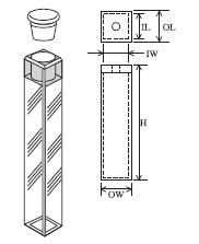 小型栓付蛍光セル(全面透明) T-607-ES-3