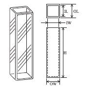 高低温用蛍光セル(全面透明) T-66-ES-10