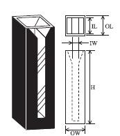 特殊マイクロブラックセル(2面透明) T-9BM-ES-10 容量1.750ml