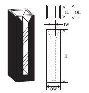 セミマイクロブラックセル(2面透明) T-9M-ES-20
