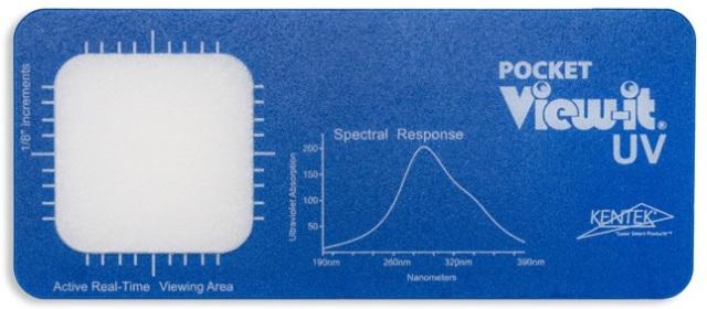 View-IT UVディテクター VW-PKT-UV ポケットカード (受光面サイズ:38×38mm)