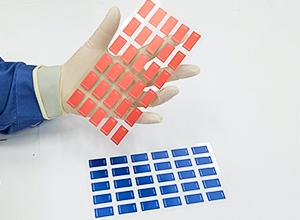 プラズマインジケータ PLAZMARK デスミア用 NO.62(低感度ブルー) ラベル型 (120枚入)