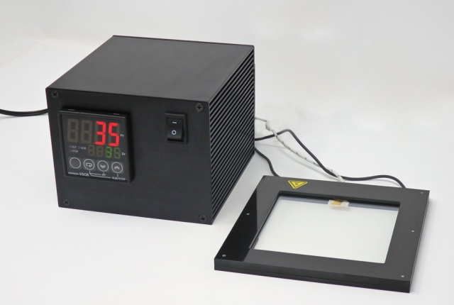 透明ヒーター【温度調節器付】 Labo Heater