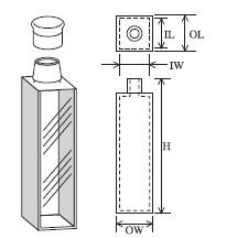 キャップ付標準セル(2面透明) T-11-ES-50