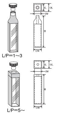 テフロン栓付標準セル(2面透明) T-21-ES-50