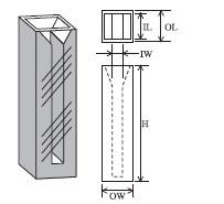 セミマイクロセル(2面透明) T-9-ES-50