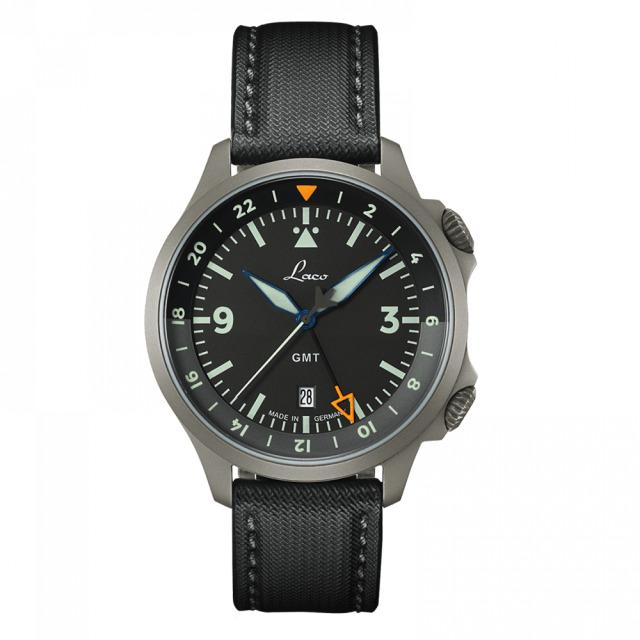 Laco 862120 PILOT Frankfurt GMT Schwarz パイロット フランクフルト GMT シュバルツ