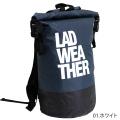 ラドウェザー LAD WEATHER 防水リュックサック ブラック×グレー LADBAG004BKWH