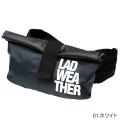 ラドウェザー LAD WEATHER 防水ウエストポーチ ブラック×グレー LADBAG005BKWH