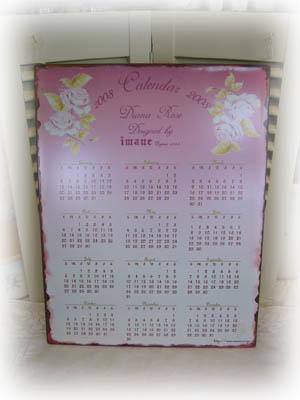 ブリキ&アイアン ダイアナローズ・ブリキカレンダー2008
