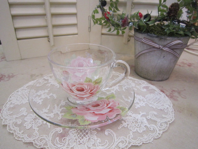 シャルール ガラスカップ&ソーサー