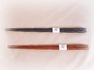 手彫り箸 大(写真上)