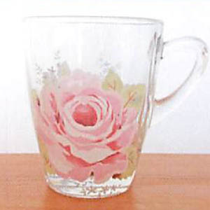 シャルール ガラスマグカップ